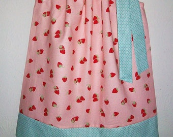 Pillowcase Dress with Strawberries Girls Dress for Spring Summer Dress Strawberry Dress Spring Dresses little girl dresses Kids Clothes