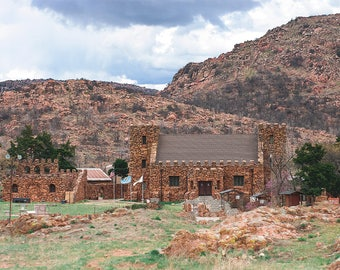 Holy City, Oklahoma Photography, Rustic Wall Art, American Castle, Monastery, Church Print, Oklahoma Wall Art, Wichita Mountains