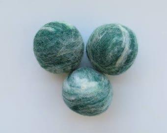 Dryer Balls, Wool Dryer Balls, Tunis, Merino and Icelandic Wool Blend Set of Three