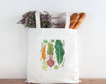 Vegetables Tote Bag / Canvas Tote Bag / Gifts for Her / Farmhouse Gifts / Gifts for Farmers / Homestead Gifts / Vegetables Market Bag / Tote