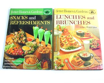 Set of Vintage 1960s Better Homes and Gardens Cookbooks - Lunches and Brunches - Snacks and Refreshments