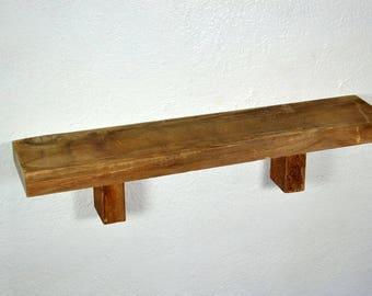 "Wall shelf recycled barnwood 24"" x 5"" x 5.5"" great rustic home decor"