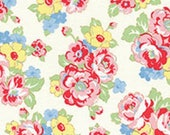 Vintage Rose Floral 31444 10 Fabric by Lecien Retro 30's Child Smile