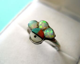 Zuni Inlay Sunface Ring Size 6.25