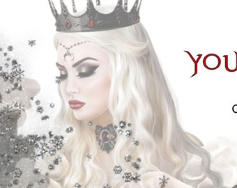 Evil Queen Premade Etsy Cover Photo Banner, You Choose Avatar