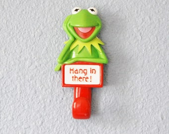 Vintage Kermit the Frog Wall Hook 1979 Henson Associates Hang in There!