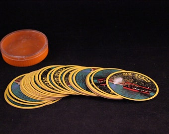 Deck of Vintage Souvenir Six Flags Theme Park Round Playing Cards
