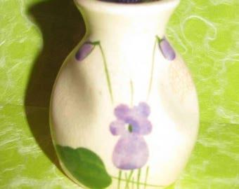 Perfume Bottle, Jug, Crock, Violet Flowers, Perfume Bottle, Made in England, Pottery, Devon Violets Perfume, Violet Flower, Purple Flowers