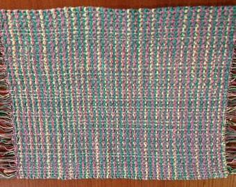 Handwoven placemats, Kaleidoscope., set of 4