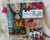 Kelly Rae Roberts, used book, artist book, Taking Flight, learn to collage, art lessons
