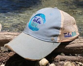 tula blue embroidered hat / judith march cap