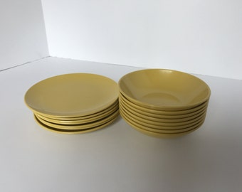 Vintage Melamine Small Plates and Bowls 15 pieces