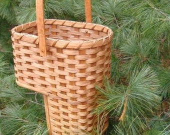 """Small 7"""" Amish Made Stair Step Basket"""
