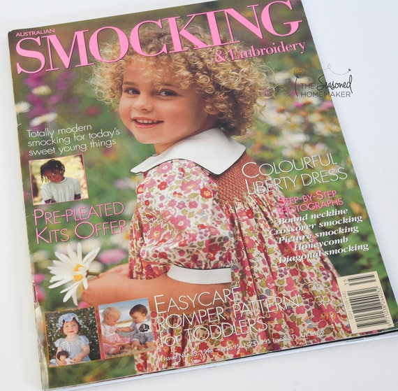 Australian Smocking & Embroidery Magazine - Issue No. 35 - Smocking Needlework Patterns - Needlework Tutorial - Smocking Tutorial