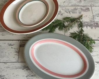 Vintage Restaurant Ware Platters - Homer Laughlin - Syracuse - Shenango - Small Medium Large