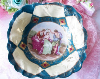 Vintage Serving Bowl Schlegelmilch German Decorative