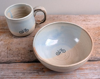 Mountain Bike Cereal Bowl
