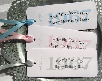 50th Birthday Party Favors - Candy Bar Wrappers - 50th Birthday | 50th Party Favors | 1967 Favors | Milestone Birthday | Adult Birthday