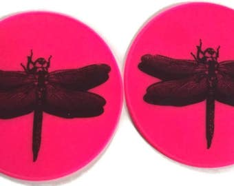 Set Pink Silicone Office Coasters Table Coaster Bottle Opener Flexible Gripper