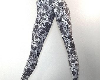 Black Sugar Skulls Hot Yoga Pant Low Rise Legging SXYfitness MADE IN USA