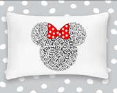 Personalized Pillowcase Minnie Mouse Disney Pillow Room Decor  Gift