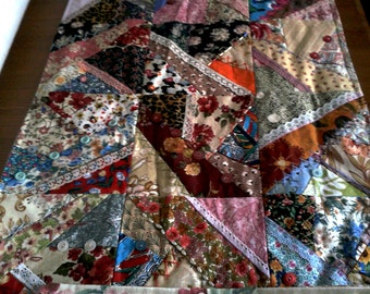 Table Runner, Patchwork, Embroidered, Lace, Beading