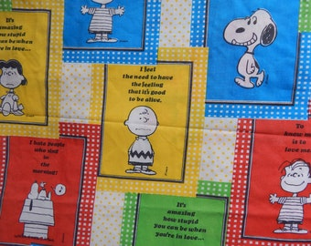Charlie Brown, Snoopy and the Gang Flat Bed Sheet / Twin Size