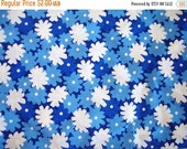 BIG SALE Fabric Destash – Blue Delft Flowers by Marcus Brothers – Over 1/2 Yard, 100% Cotton