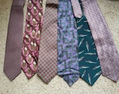 Lot of 4 ties - reserved for Claysie - 1,4,5,6 in the photo from the left - all silk