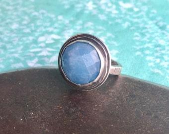 courage & calm.  aquamarine ring