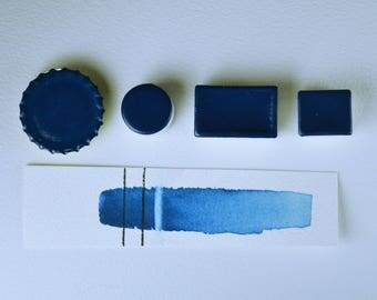 Half Pan or Small Cap - Horizon Blue, Anthesis Arts Artisanal Handcrafted Handmade Watercolor Paints, Choose Your Size