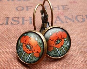 Poppy Leverback Earrings (AN07)