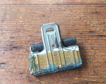 Vintage Industrial Esterbrook Ball Bearing Bulldog Office Clip, Vintage Office supply, Industrial clip, antique clamp, gifts under 10