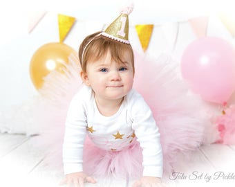 Twinkle Twinkle Little Star 1st Birthday Outfit, Cake Smash Outfit, Pink and Gold First Birthday Outfit Girl, 1st Birthday Tutu Skirt Set