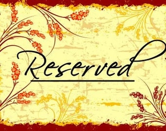 Reserved for Crystal