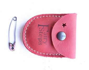 DUST tiny coin purse #3264 poppy red