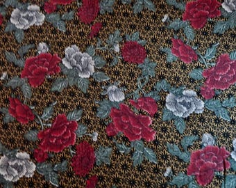 RJR Fabric Lacquer Prints Japanese Peony Print Cotton