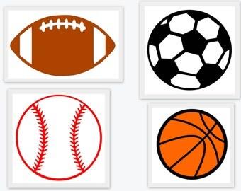 Baseball Basketball Football Soccer Ball  SVG, PDF, PNG, Jpg Studio3  Files - Custom Designs & Wording Welcome