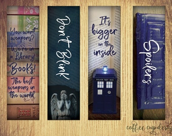 Doctor Who Bookmarks - Instant Download