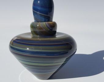 Calcedonio Glass Perfume Bottle - Free Shipping stock#epw-05