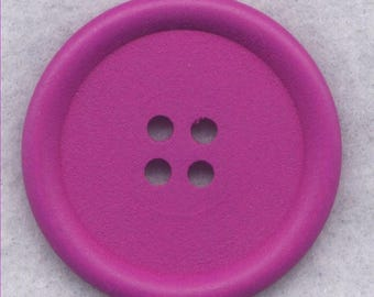 SALE Purple Wood Buttons Wooden Buttons 40mm (1 5/8 inch) Set of 2 /BT527H
