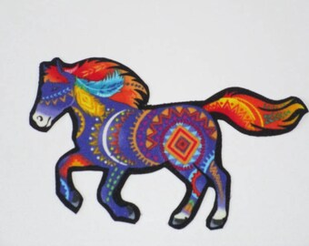 Purple Fantasy Horse Iron On Patch Applique 6""