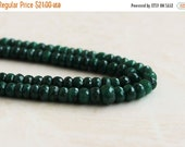 Black Friday Sale Emerald Rondelle Gemstone Green Faceted Rondelle 5.5mm 28 beads