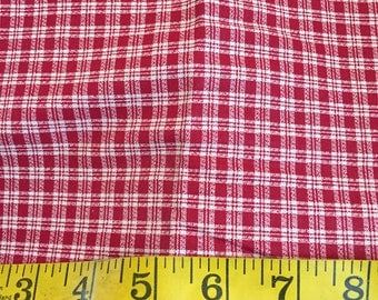 One Yard of Red Plaid Fabric