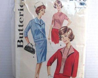 1960s Butterick pattern 2178 size 12 bust 32 misses suit coorninates