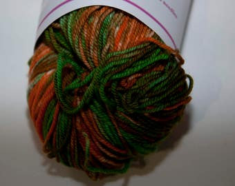 Hand-Dyed Yarn in Leprechaun Sock Yarn Merino/Cashmere/Nylon Lush Base