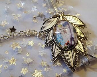 Steampunk Inspired Leaf Eiffel Tower Necklace