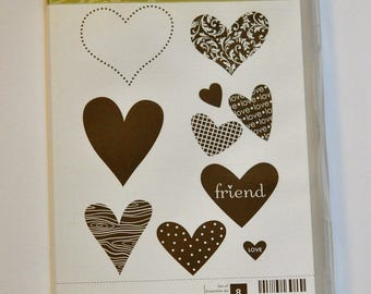 I {Heart} Hearts Stampin' Up! Stamp Set of 8