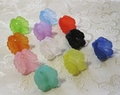Frosted Acrylic Lucite Flower Cap Bead Mix 16mm Choose Your Colors 428
