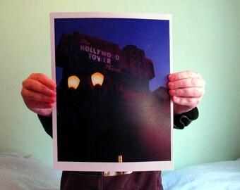 Disneyland Resort, Twilight Zone, Tower of Terror,  8x10, Gloss or Matte Print, California Adventure, Disney Sunset